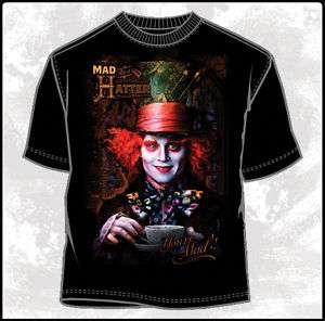 Alice In Wonderland Johnny Depp as Mad Hatter T Shirt