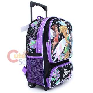 Tinkerbell Fairies School Roller Backpack Rolling Bag Butterfly 3
