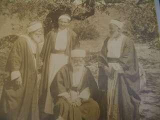 Bonfils Arab Men Large Albumen Photograph