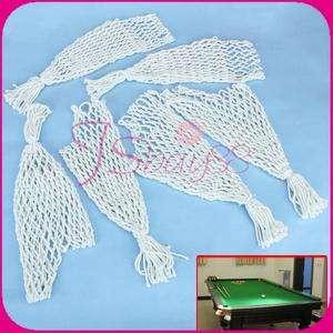 Indoor Sport Billiards Pool Snooker Table Nylon Nets Pockets Bags Cue