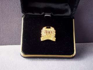 Vintage 1987 Goldtone Avon Presidents Club 100 Pin
