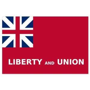 Tauton Flag Liberty and Union Flag car bumper sticker