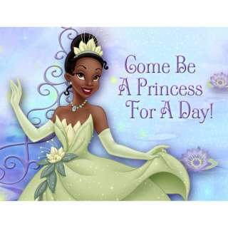 Princess and the Frog 8 Birthday Party Invitations