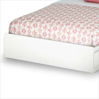 Mates Storage Frame Only Pure White Finish Bed 066311047134