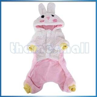 Pet Dog Warm Coat Jumpsuit Velveteen Rabbit Hoodie Hooded Costume