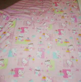 HELLO KITTY COMFORTER & SHEET SET SANRIO BLANKET PINK TWIN SIZE GIRLS