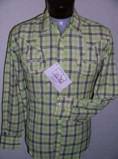 Plaid Grn Rockmount Horse Shoe Western Cowboy Shirt 2x