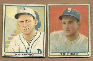 1941 PLAY BALL EDDIE MILLER # 1 FIRST CARD IN SET