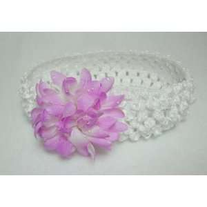 Light Purple Mum Flower Baby Girls Crochet Headband