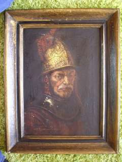 REMBRANDT OIL PAINTING THE MAN WITH GOLDEN HELMET Reproduction