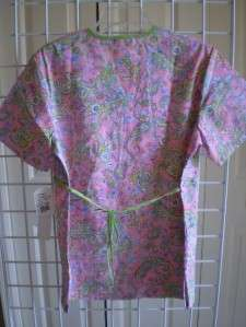 NEW CHEROKEE MOCK WRAP SCRUB TOP