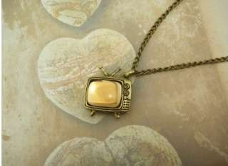 vintage bronzed retro fashion TV Necklace pendant hot free ship XL198