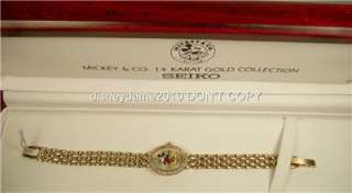Ladies14kt Gold and Diamond Seiko Mickey Mouse Watch Gorgeous