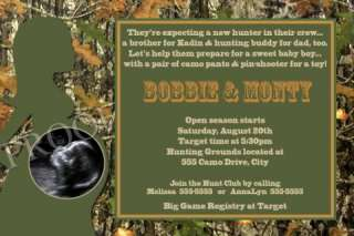 Realtree Real Tree Camo Camouflage Baby Shower Invitations Hunting