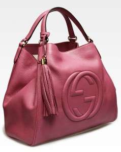 Gucci Soho Shoulder Bag in Pink Leather Purse Handbag, New & Authentic