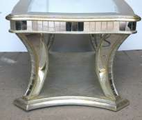 Art Deco Mirrored Coffee Table Glass Furniture