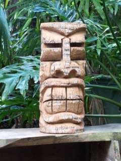 Florida Palm TIKI STATUE #103 Hawaiian Wood Carving Art