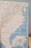 ATLAS FOLIO NATIONAL GEOGRAPHIC SOCIETY 1958 55 MAPS + BONUS 8