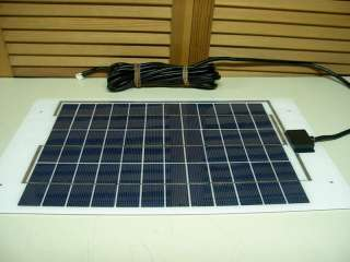 10W White STAINLESS STEEL Solar Panel   RV & SAILBOAT