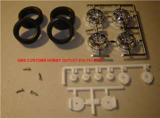 Model kit Lot/Tire & Wheel set with Pins and Rotors Highly Detailed 1