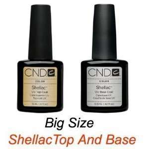 Cnd Shellac Top and Base Set of 2 Big Size. High Quality