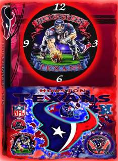 Houston Texans wall clock (Great Man Cave Wall Clock) gr8 gifts