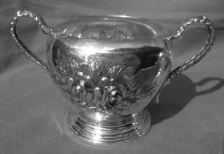 Stieff Rose Creamer & Sugar Bowl Sterling