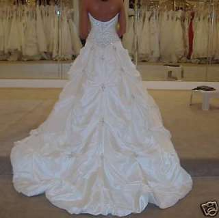 New Stock White/Ivory Wedding Dress Bridal Gown Size6/8/10/12/14/16