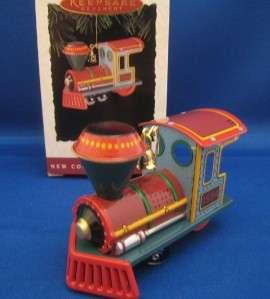 Hallmark Ornament 1994 YULETIDE CENTRAL #1 Train Engine Tin MIB