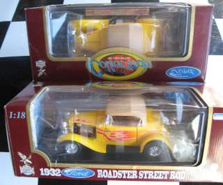 1932 32 Ford Roadster Street Rod yellow 118 diecast