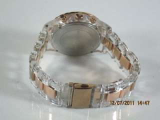 Kors MK 5323 Womens Chronograph Crystals Clear & Rose Gold Resin Watch