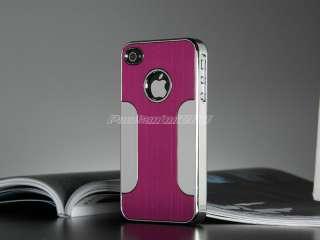 Aluminum Chrome Hard Case Cover F iPhone AT&T Verizon Sprint 4S 4 S