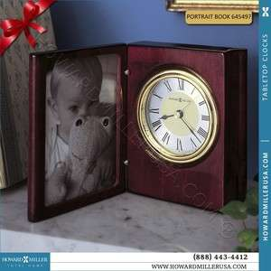 Howard Miller Portrait Book Desk Clock Desktop and Tabletop Clocks
