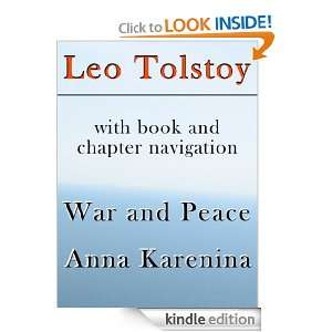 War and Peace, Anna Karenina (with book and chapter navigation) Leo