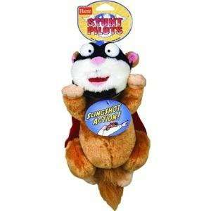 Hartz 12 Stunt Pilot Squirrel Plush Dog Toy Slingshot