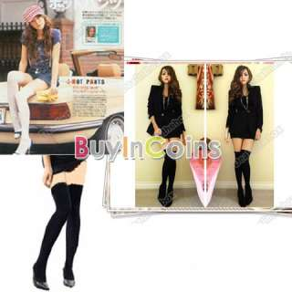 Pair Women Over The Knee Soft Socks Thigh High Cotton Stockings
