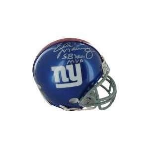 ELI Manning Autographed Hand Signed NY Giants Mini Helmet SB