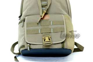 Canvas Camera Laptop Backpack DSLR Canon EOS Nikon Sony
