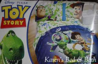 Toy Story 2pc Set TWIN Comforter + Buzz Lightyear Pillow   NO sheets