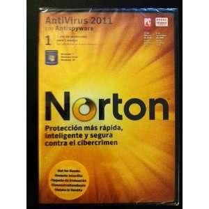 Norton AntiVirus 2011 con Antispyware   1 año de protección para 1