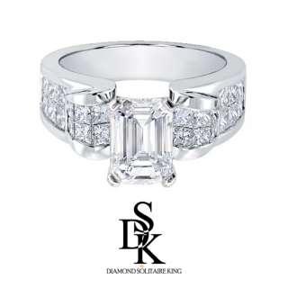 10 carat F G/VS2 Emerald Cut Diamond Engagement Ring