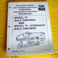 Ford New Holland 70 & 75 Bale Thrower Parts Catalog