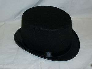 New Black Felt Top Hat Dance Recital Costume Photo Prop