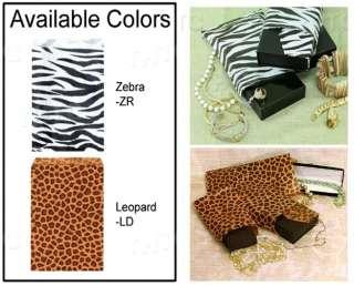 500 Pack   Paper Gift Bags, 8.5x11, Zebra Design