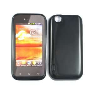 Shiny Black Silicon Soft Gel Skin Case Cover for LG