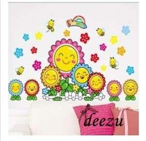 Room Cartoon Sunflower Decals Mural Wall Decor Stickers