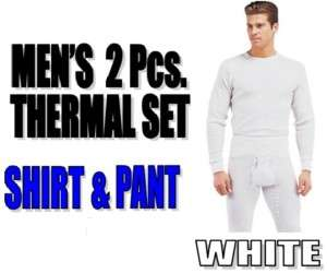 Mens THERMAL 2pc Waffle Knit SET Underwear Long John Top & Bottom