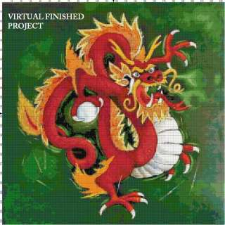Chinese Dragon Cross Stitch Pattern Oriental TBB