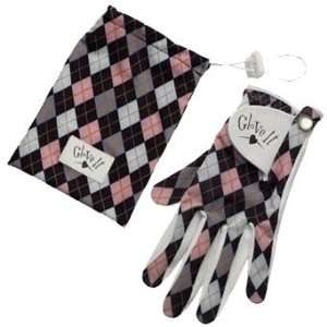 Glove It Pink and Grey Argyle Golf Glove (HandLeft,Size