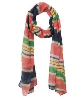 null (Multi Col) Mutli Coloured Stripe Scarf  242517799  New Look